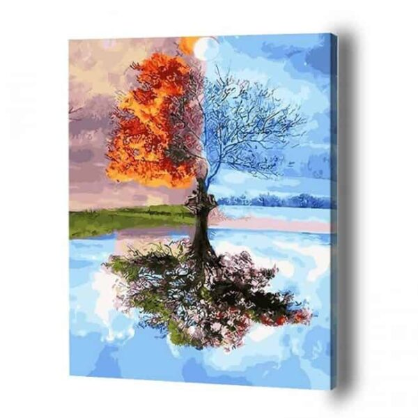 Four Seasons Tree Paint By Number
