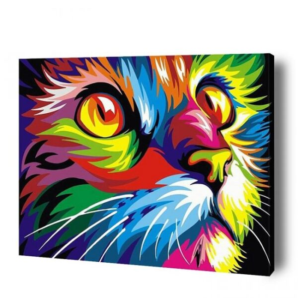 Multicolor-Paint-By-number-Cat-Kit