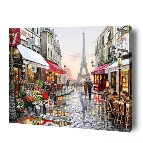 Rainy in Paris Paint By Number