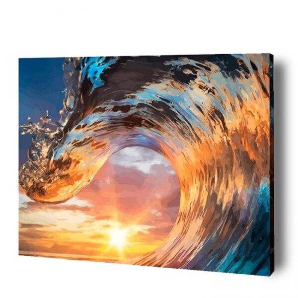 Ocean Wave Paint By Number