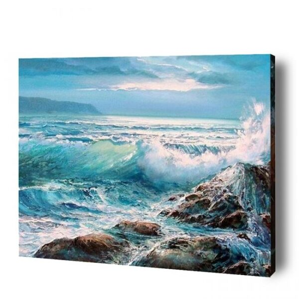 Sea Waves Paint By Number