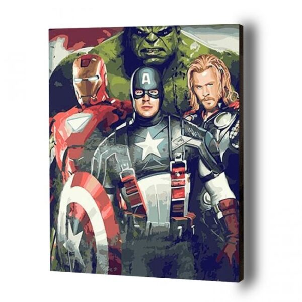Marvel Superheroes Paint By Number