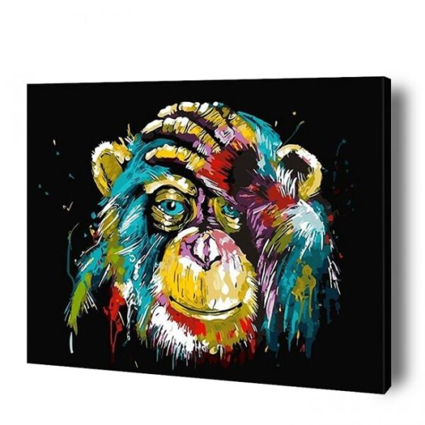 Monkey Paint By Number