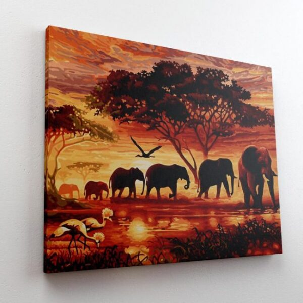 African Elephant Paint By Number