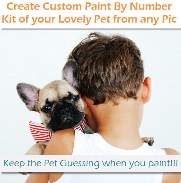 Paint by Number Kit of your Pet
